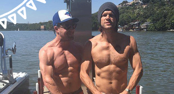 #StephenAmell & #JaredPadelecki couldn't look any hotter on vacation in Texas! http://t.co/QPSIwwtb0v http://t.co/uIdlqK7qhf
