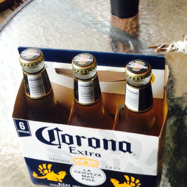 Hey @LCBO who stealthed MGD into my Corona sixer to ruin Sunday? #dickmove