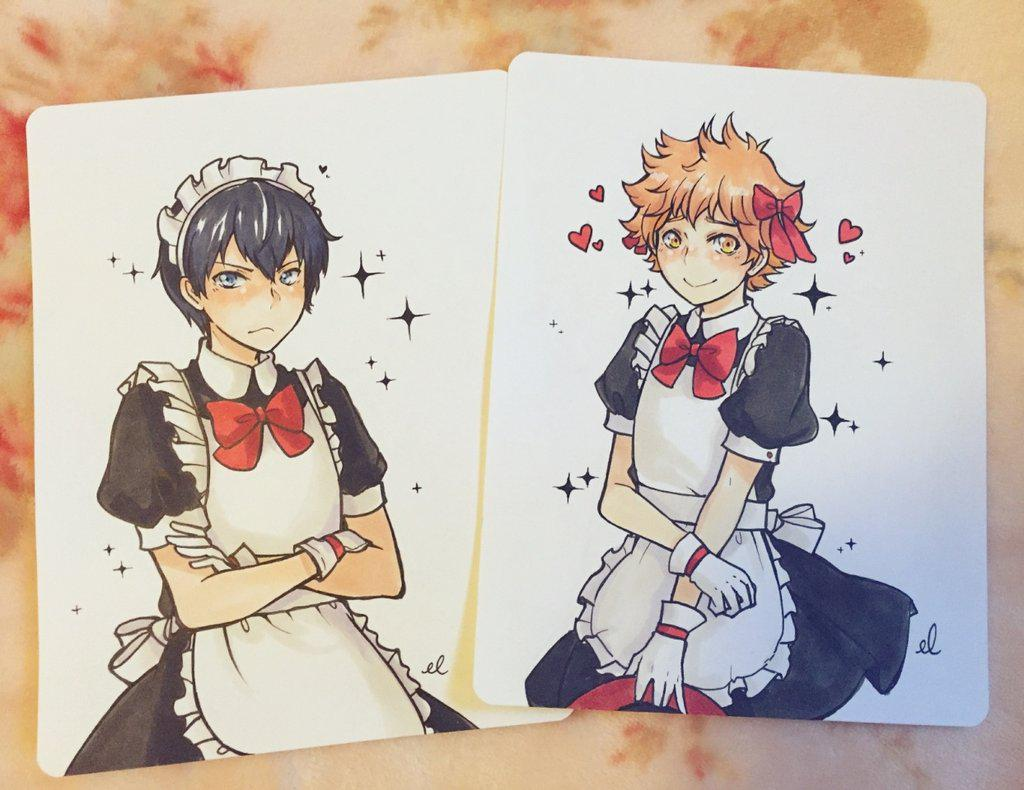 Ebbilin On Twitter Yesssss Kagehina Maid Set Complete My Contribution To The One Day Haikyuu Cafe In Nyc Http T Co B3jaycgt5m