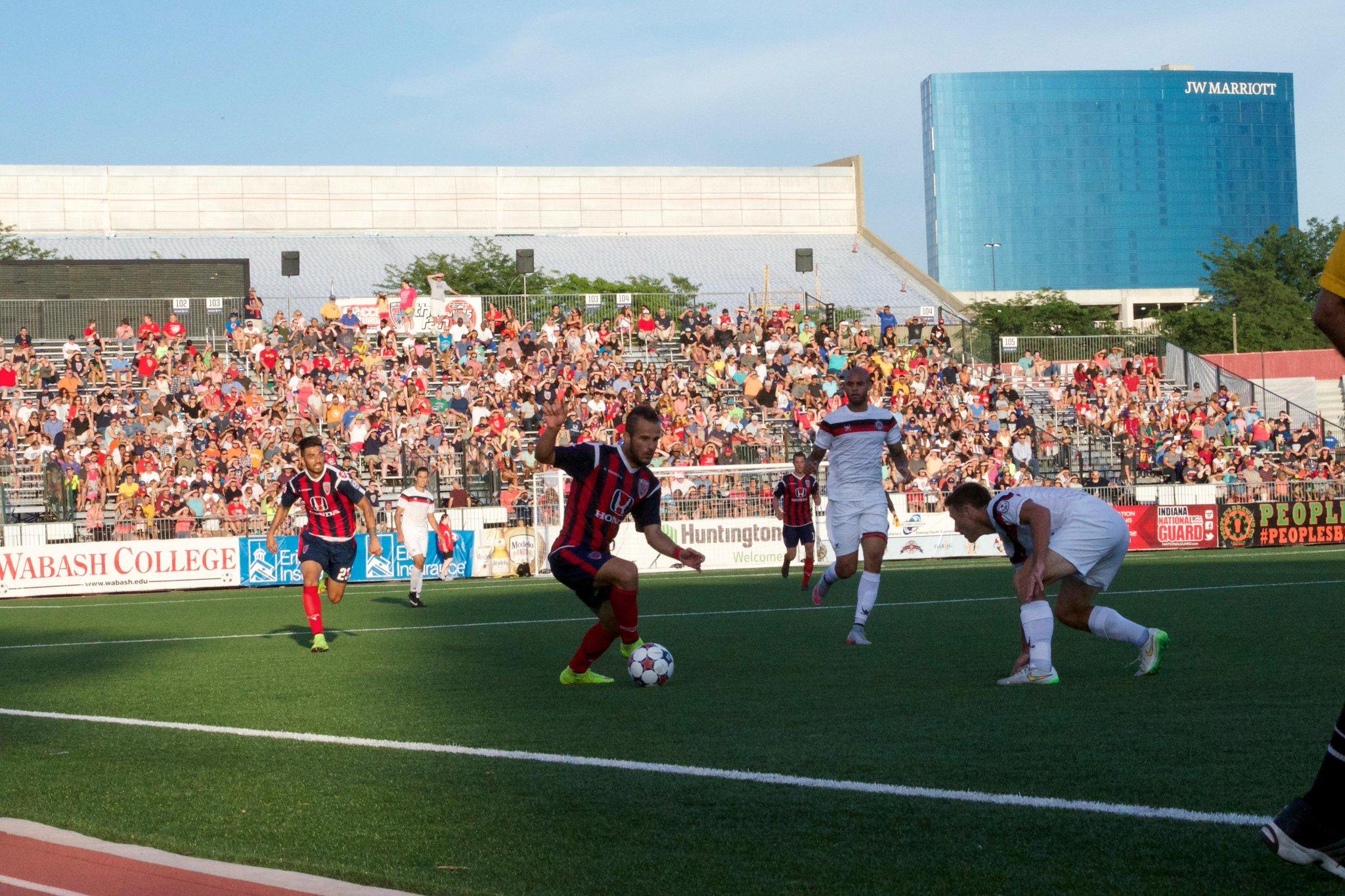 Stojkov dribbles the ball; photo: Permanent Relegation Twitter