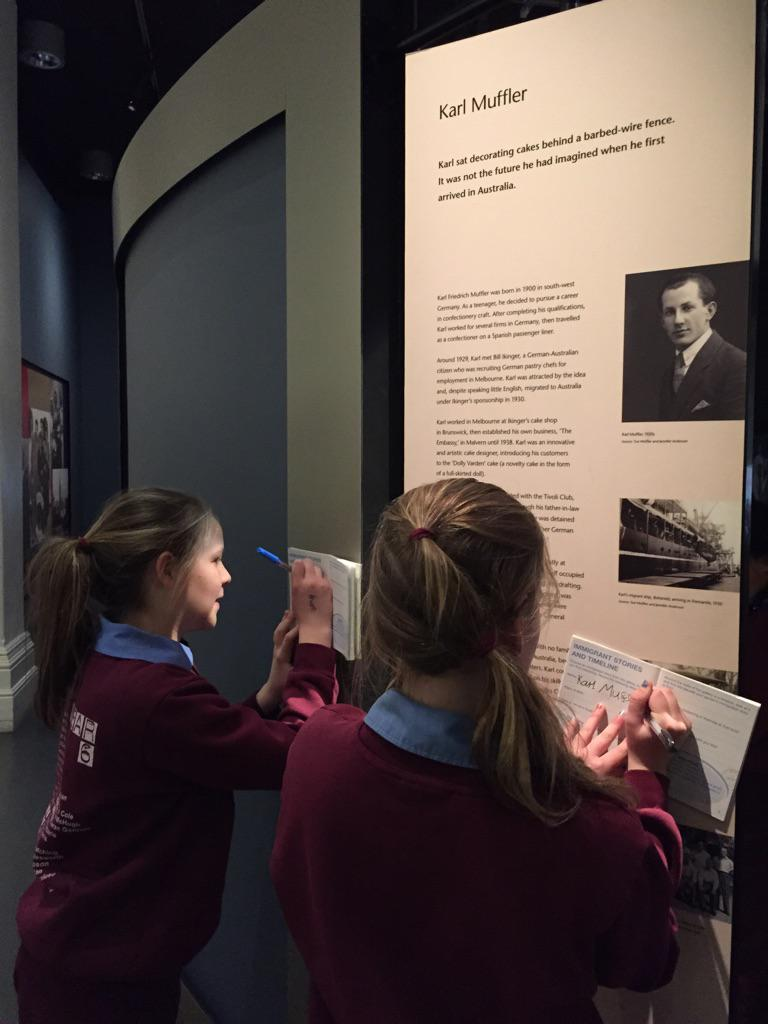 Discovering the story of migrants who made important contributions to Australian life #ImmigrationMuseum @MVTeachers http://t.co/8ODbbnKWO3