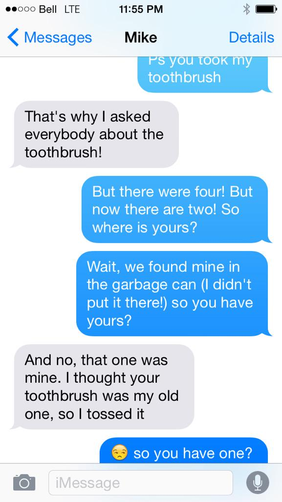 tanya koivusalo on twitter hilarious sibling text exchange re