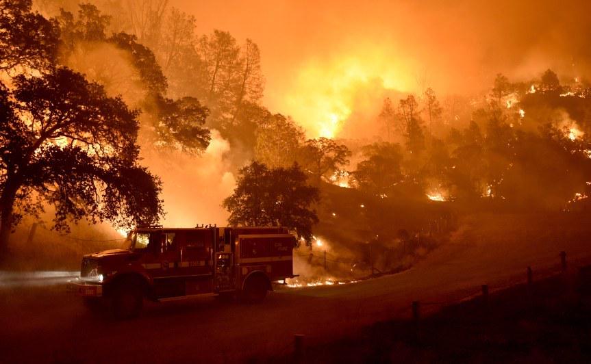 Brucia la California