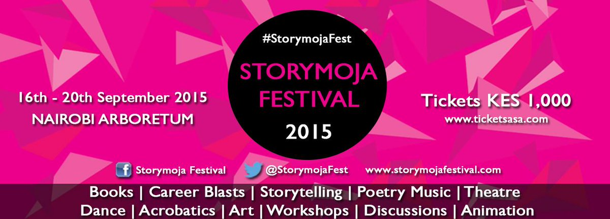 Storymoja Festival | 16-20 Sept 2015: Nairobi Arboretum, Kenya. Tickets available https://t.co/Xbr5bbeNGy Buy Now! http://t.co/Q54MbyFU3E