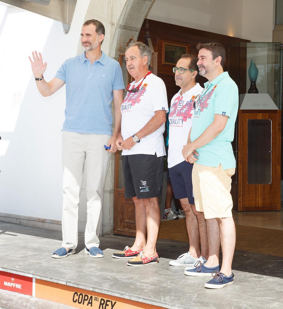 Король Испании на открытии регаты на Кубок короля Испании