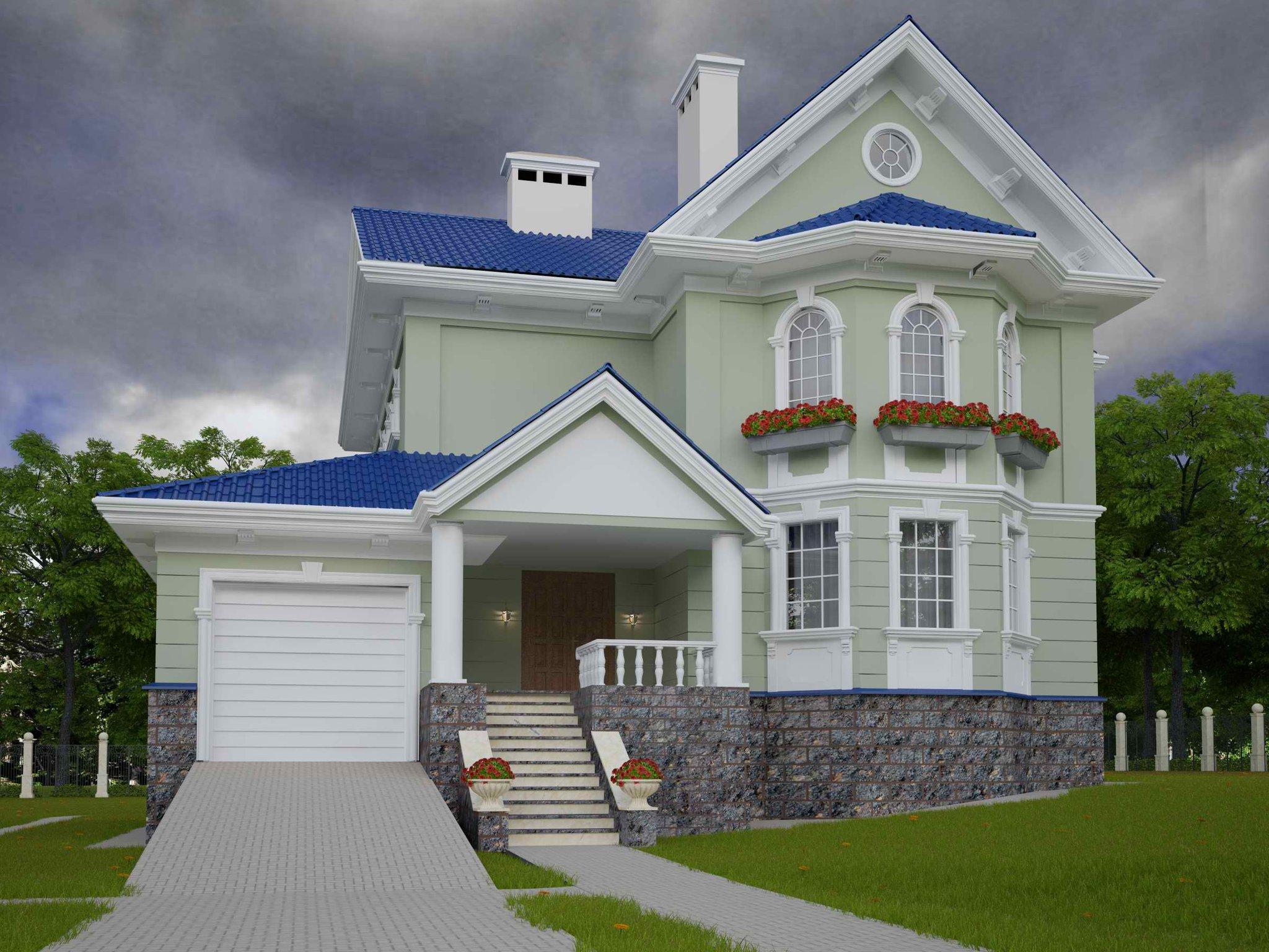 уже говорили, проекты домов коттеджей с фасадом эркер фото поможет