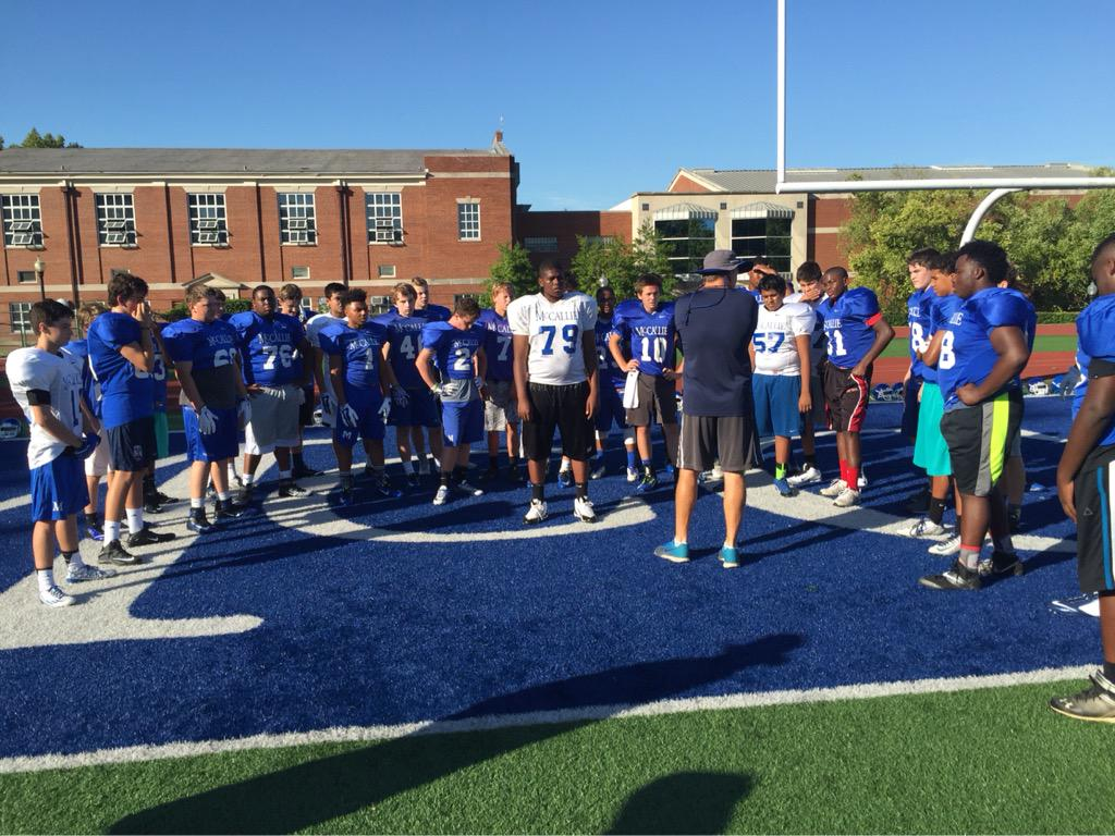 Mccallie Football On Twitter Good 1st Camp Morning For Our 35