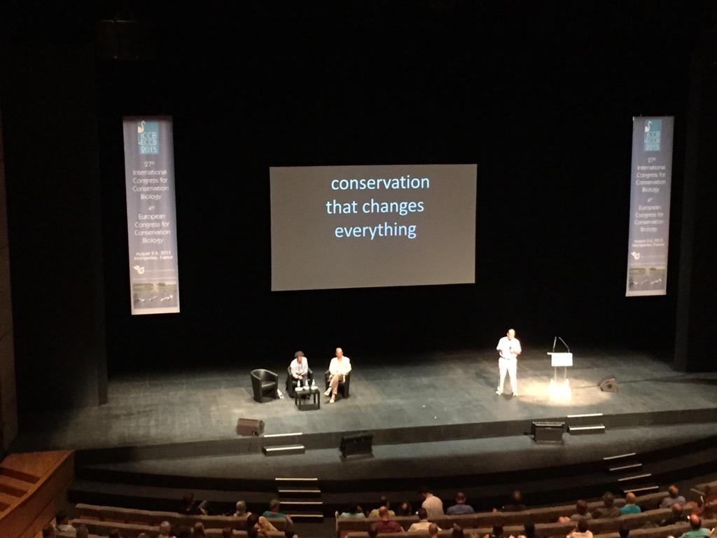 Peter Kareiva, plenary: are we being as effective as we need to be for conservation?  #ICCB2015 @nature_org http://t.co/8mridEVxtk