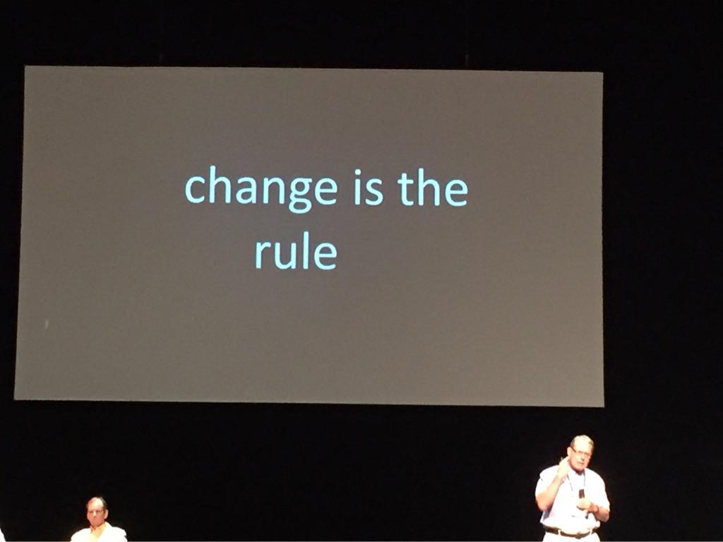 "Kareiva: ""Change is the rule"" #ICCB2015 http://t.co/VnudgYqBCj"