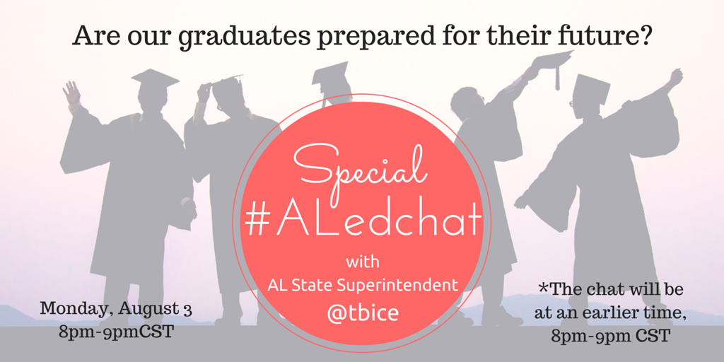 Thumbnail for #ALedchat 8/3/15 Are our Graduates prepared for their Future?