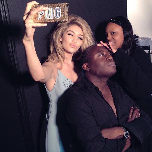 On-set selfie with @gigihadid and @patmcgrathreal. @wmag #StevenMeisel #Gigi #GigiHadid xoxo http://t.co/pAtzJJYcIy