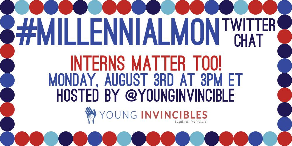 It's Monday! You know what that means; It's #MillennialMon today at 3pm ET. We can't wait to hear from you! http://t.co/FlDChNgkpB