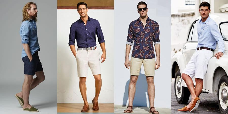 Go-To Summer Smart-Casual Combination 2) Long-Sleeved Shirt & Shorts: http://t.co/fXltYFJ6z8 http://t.co/jPJT27SYJo