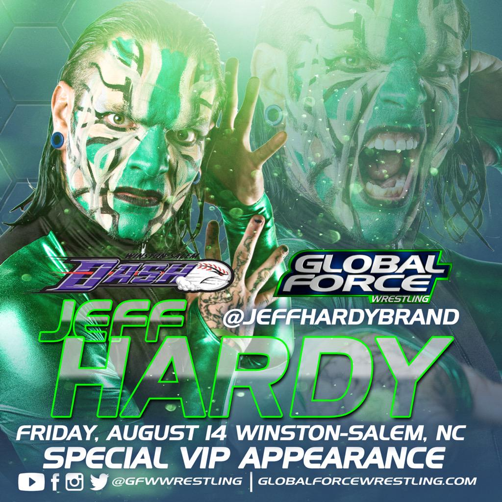 Jeff Hardy to appear at Global Force Wrestling live event