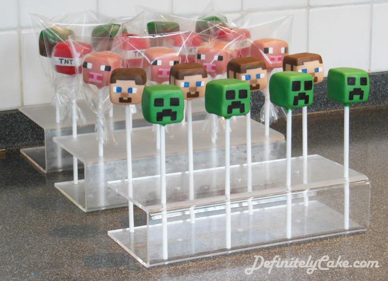 Tamsin Aston On Twitter Minecraft Cake Pops For A 7th Birthday