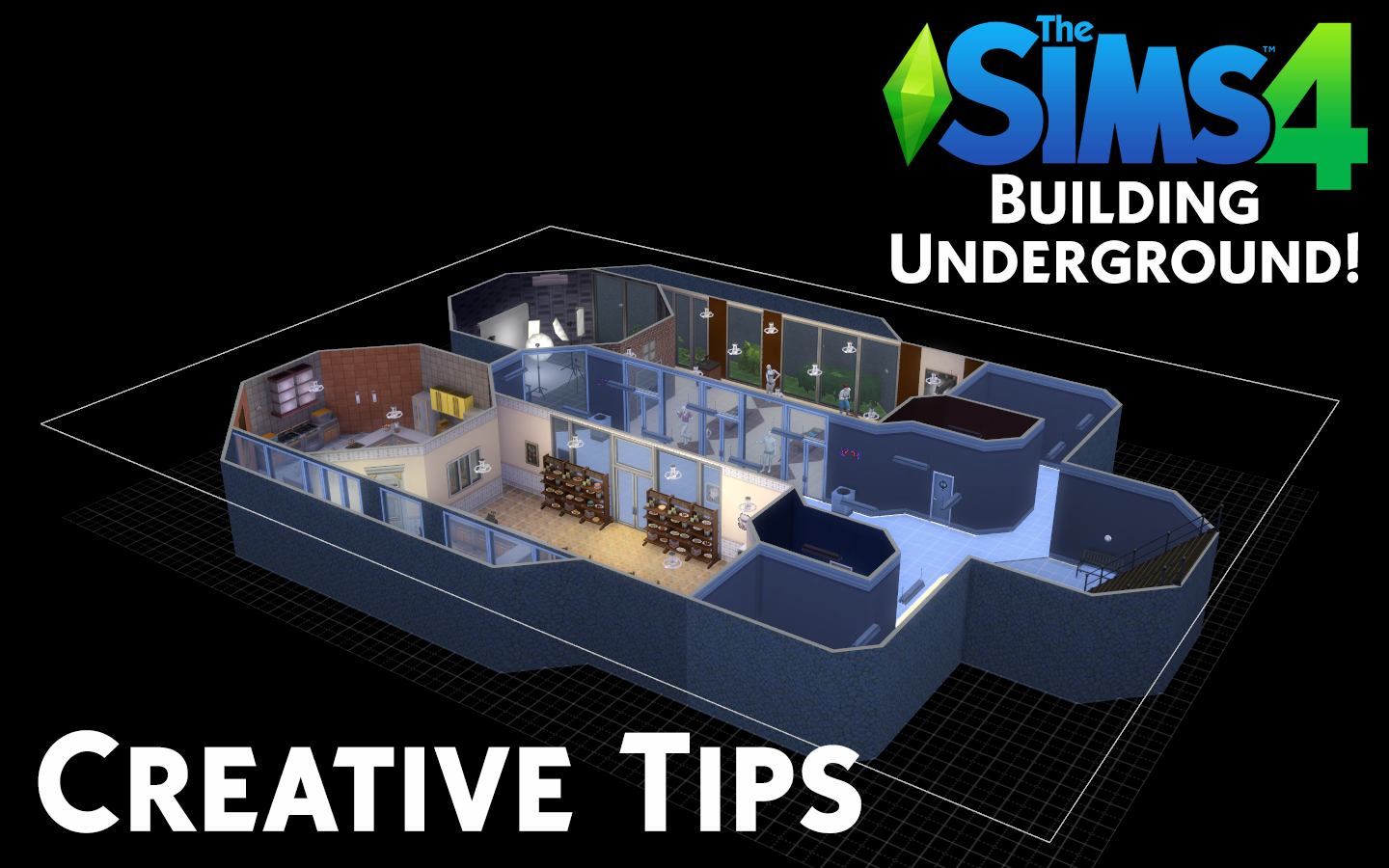 how to build underground sims 4