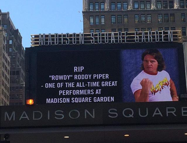 Madison Square Garden pays tribute to Roddy Piper