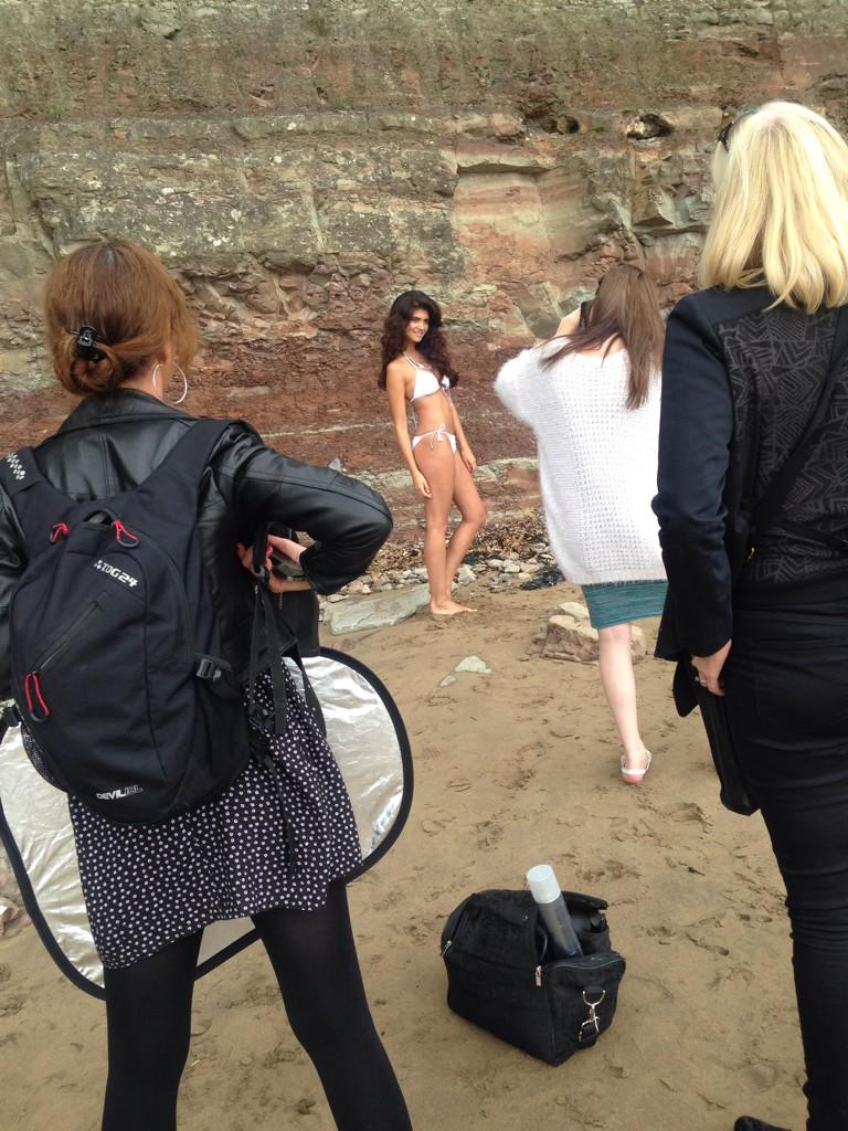 RT @VibePR: Photoshoot today down Barry Island! Harder work than it sounds! http://t.co/MSPtmhaYwc