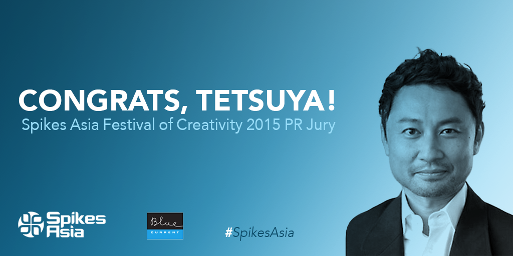 So proud: BlueCurrent Japan's @hondatetsuya70 has been named to @SpikesAsia's 2015 PR Jury. http://t.co/F0O689AoHN http://t.co/g1brS7sdZu