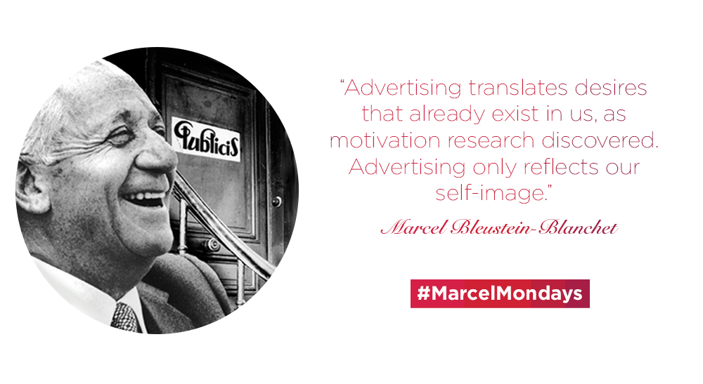 """Advertising translates desires that already exist in us."" #MarcelMondays http://t.co/vlNYInwHAo"