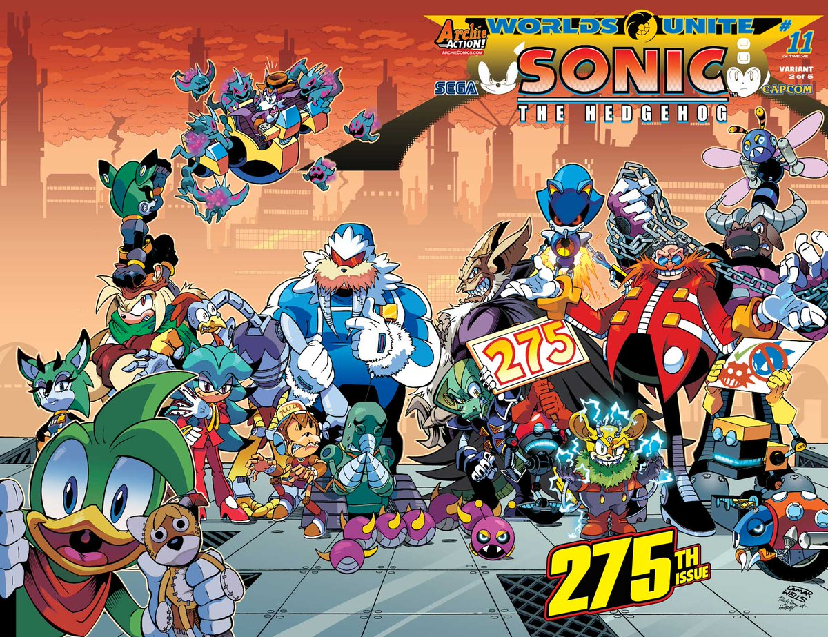 Archie Comics On Twitter The Bad Guys Rule On This Lamar Wells Cover For Sonic The Hedgehog 275 Who Is Your Favorite Villain On This Cover Http T Co Fwe9stxfdi