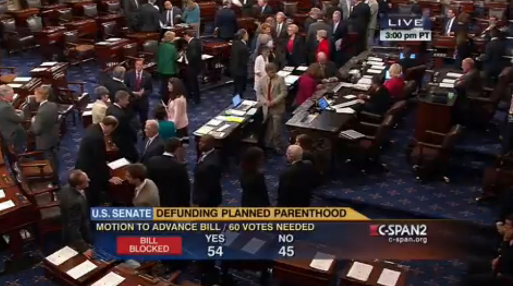Senate Democrat vote to keep funding Planned Parenthood