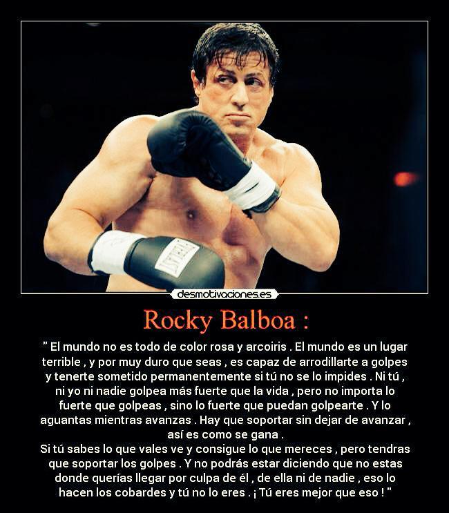 Hugo Samper På Twitter Si Acabo De Ver Rocky Balboa Que