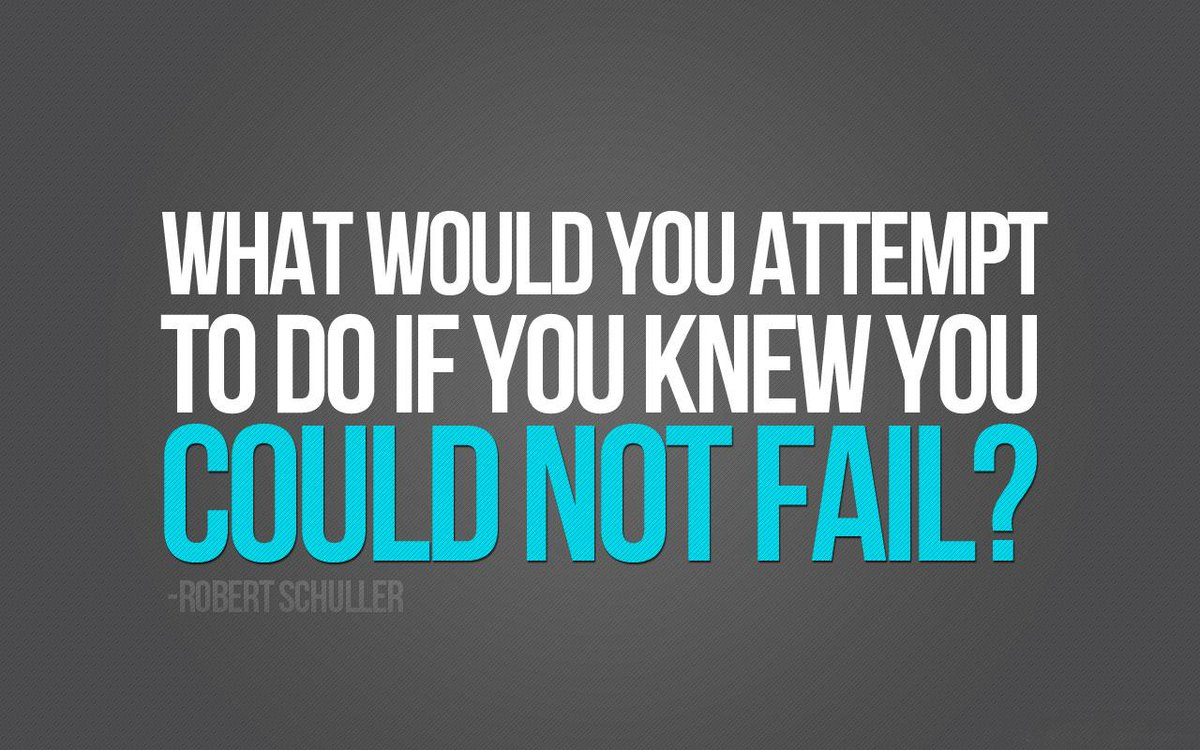 Tamara Mccleary On Twitter What Would You Attempt To Do If You Knew You Could Not Fail Robert Schuller Quote Leadership Inspiration Http T Co Wdqpdohgv6