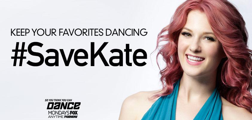 RT @DANCEonFOX: Tweet NOW to #SaveKate! #SYTYCDstage #sytycd http://t.co/31R5TAiYr5
