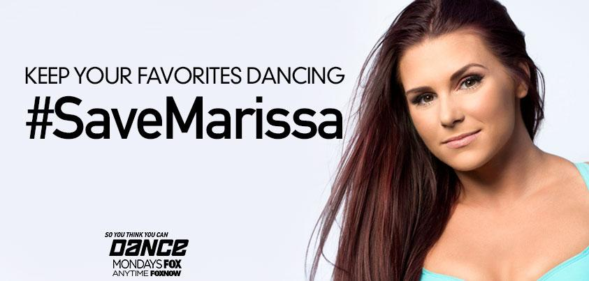 RT @DANCEonFOX: Tweet NOW to #SaveMarissa! #SYTYCDstage #sytycd http://t.co/hpAM3ZZ1sY