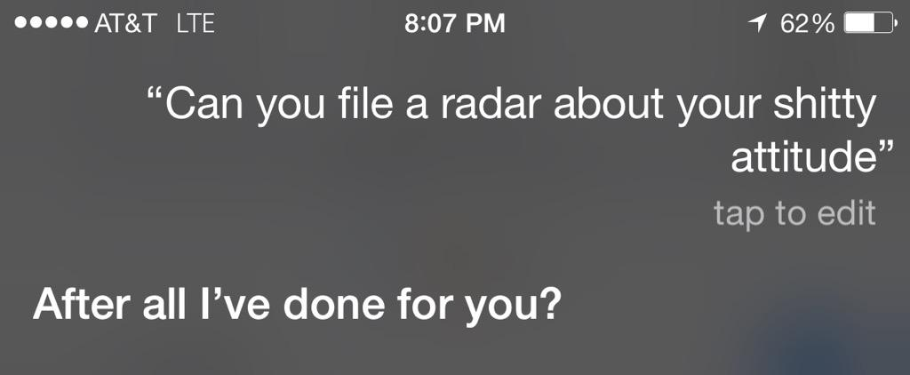 See what I mean Siri. Just not being helpful. I said open a radar. http://t.co/APqLv26MhT