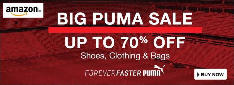 Big Puma Sale Upto 70% OFF by Amazon India