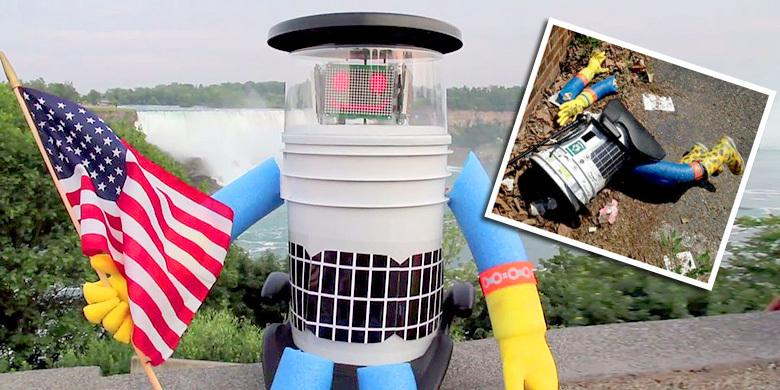 HitchBOT, The Hitchhiking Robot, Gets Decapitated After Only 2 Weeks On The Road In The US http://t.co/J6ZMsC18cM http://t.co/cYeD7aTscx