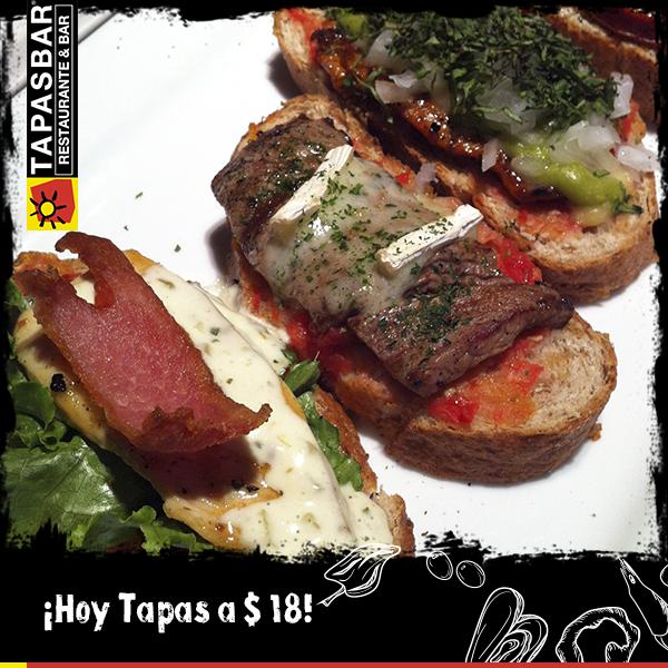 ¡Y hoy nuestros clásicos bocadillos españoles están a $18!  ¡No hay excusas! http://t.co/pwgM6qvdim