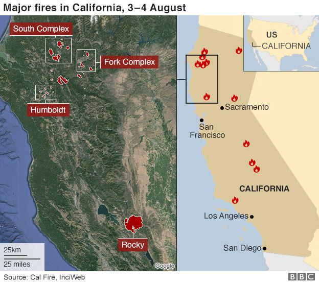 RT @theCaGuard: 20 #wildfires 13k evac orders #FireFighters #Interagencies wrking OT @CAL_FIRE @Cal_OES @R5_Fire_News<br>http://pic.twitter.com/ZEKUL6POdj