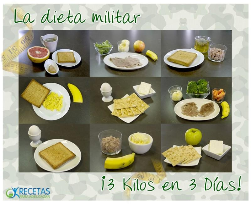 Dieta militar 3 dias
