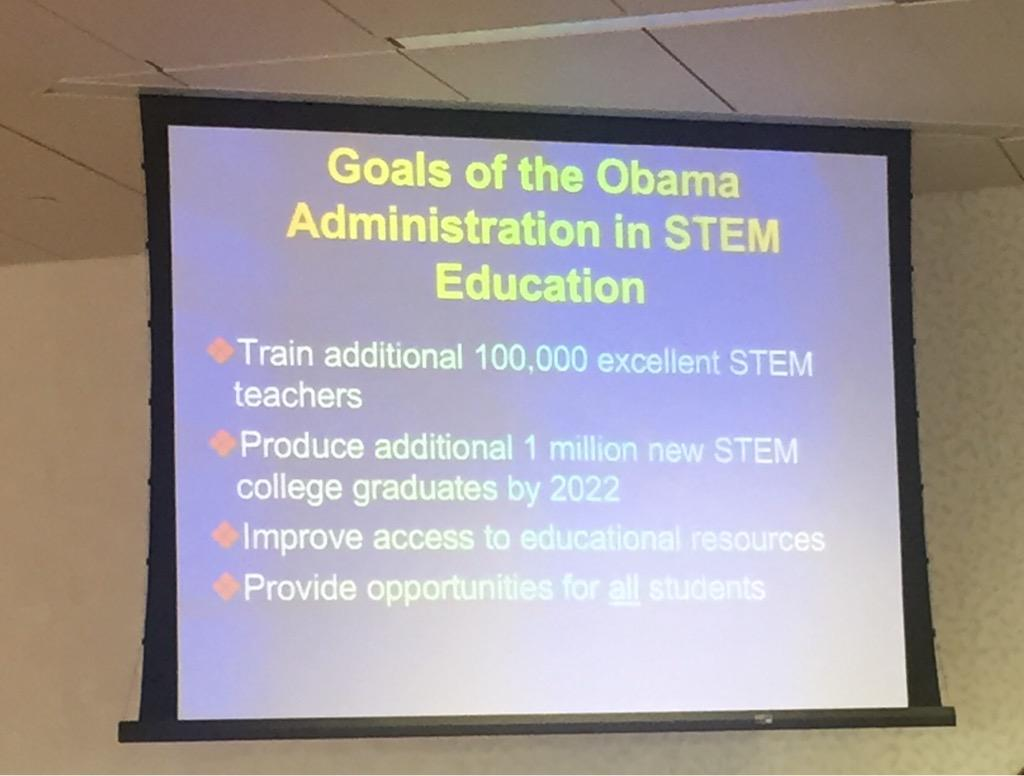 Goals of the Obama Administration in STEM Education #sciamlearning cc @Jo_OSTP http://t.co/WobyrqWXp2