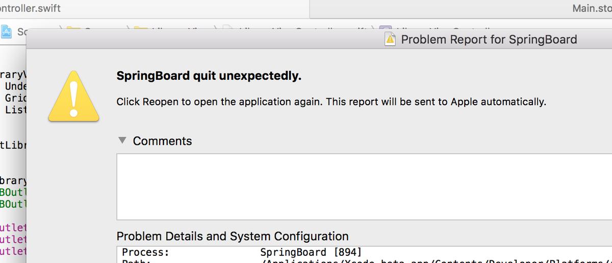 PSA: El Cap Beta 6 breaks Xcode 6 and 7. Beware. http://t.co/3uY8FMFcMQ