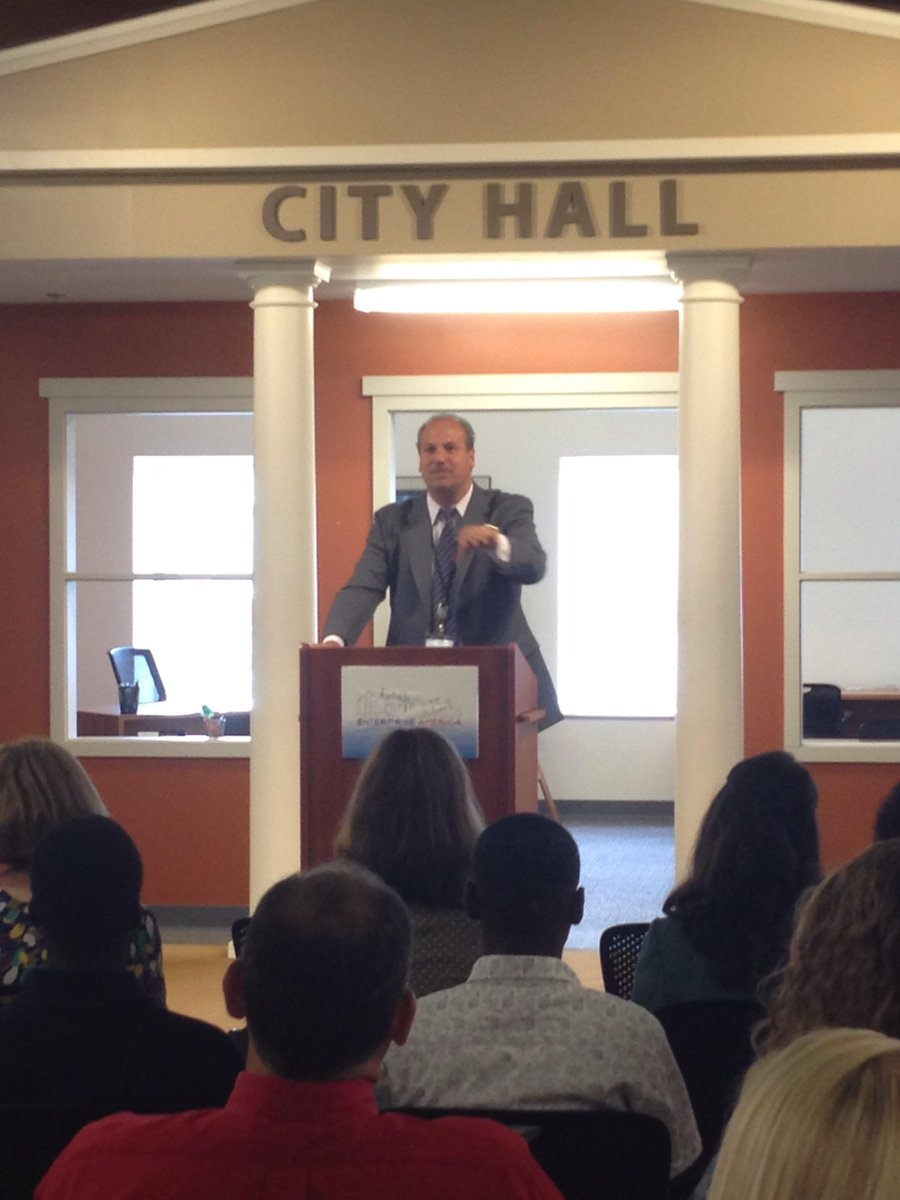 Bob Daino, President and CEO of WCNY, talks about the importance of working together to bring new educational opportunities to our community during the ProLiteracy financial literacy event on August 4, 2015.