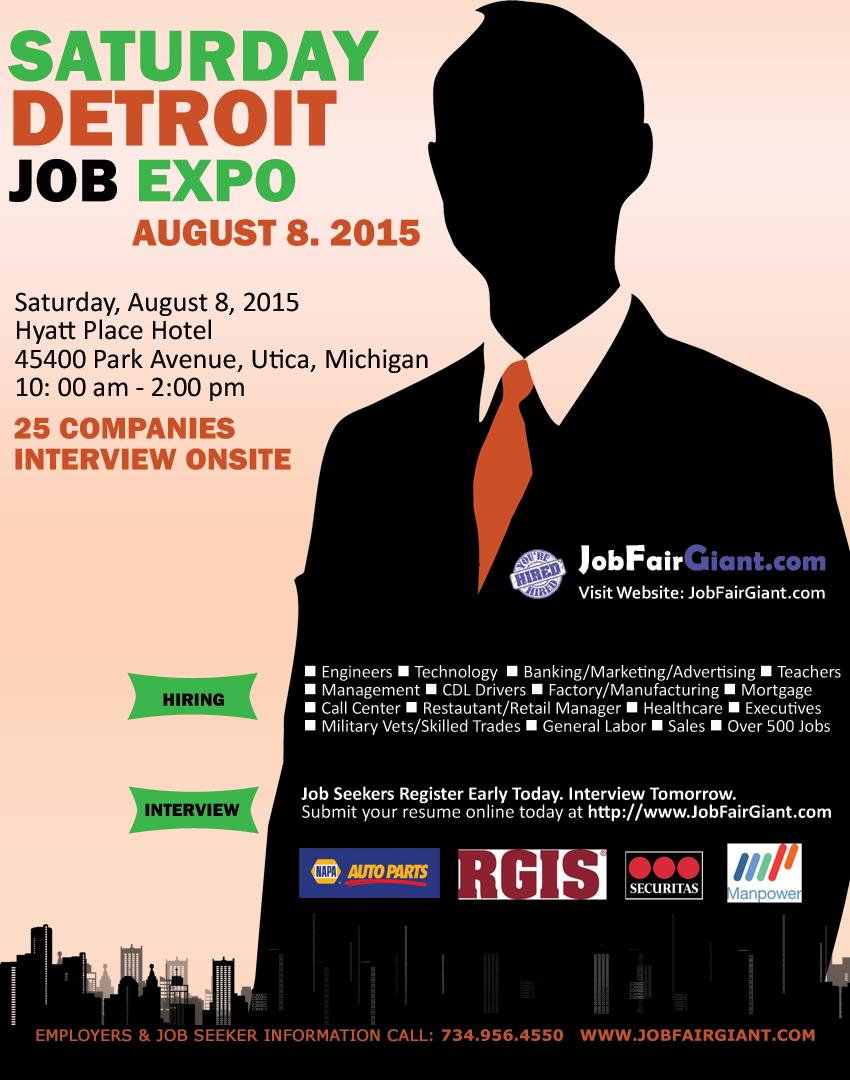 #Detroit Job Expo happening this weekend Sat, Aug 8. Over 25 Employers Details at http://t.co/o7ctAza4yQ @JeffVaughn http://t.co/EfkZo5PHem