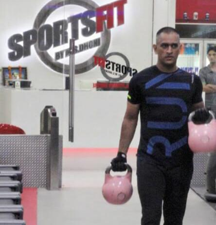 Image result for sports fit dhoni