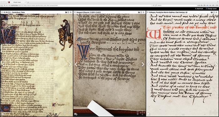 Read the Ellesmere Chaucer at home in your pajamas! Making medieval manuscripts accessible. http://t.co/dgUUk5pwIJ http://t.co/3Omd0OSRUw