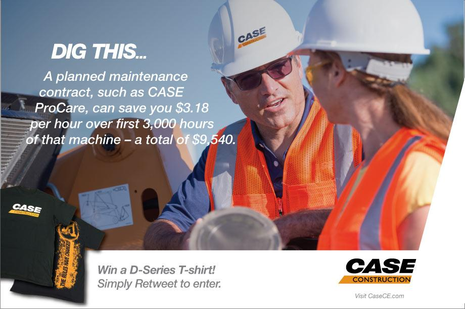 """It's FREE T-shirt Tuesday! Retweet & enter to win """"The Rules Have Changed"""" shirt featuring our D-Series excavator http://t.co/pzUe2kqoAb"""