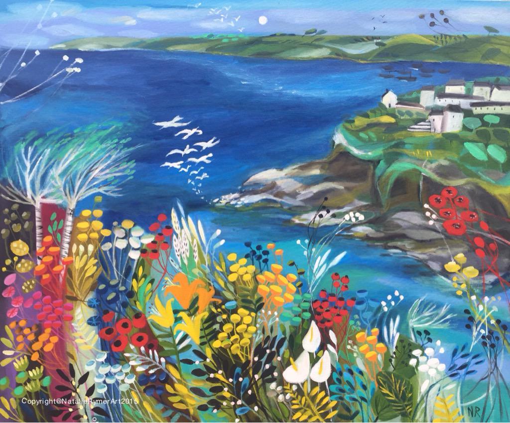 natalie rymer art-英國畫家·娜塔莉·羅默-豐富大膽的色彩,筆觸獨特與眾不同的美麗花卉渲染。。。 - ☆平平.淡淡.也是真☆  - ☆☆。 平平。淡淡。也是真。☆☆ 。