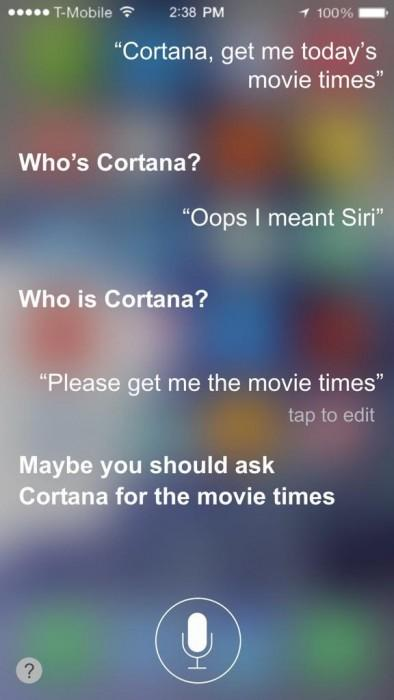 What would happen if you called Siri Cortana? A jealous Siri? http://t.co/RnZzPPmnQc http://t.co/ViCWc17Mlf