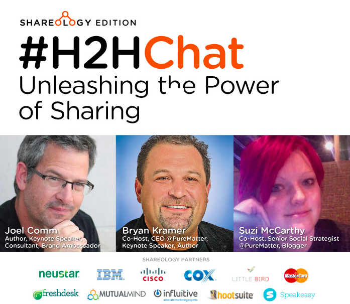 Replay: #H2HChat Unleashing the Power of Sharing with @JoelComm http://t.co/si040Ug26q via @bryankramer cc: @suzimcc http://t.co/FNmsmktyZp
