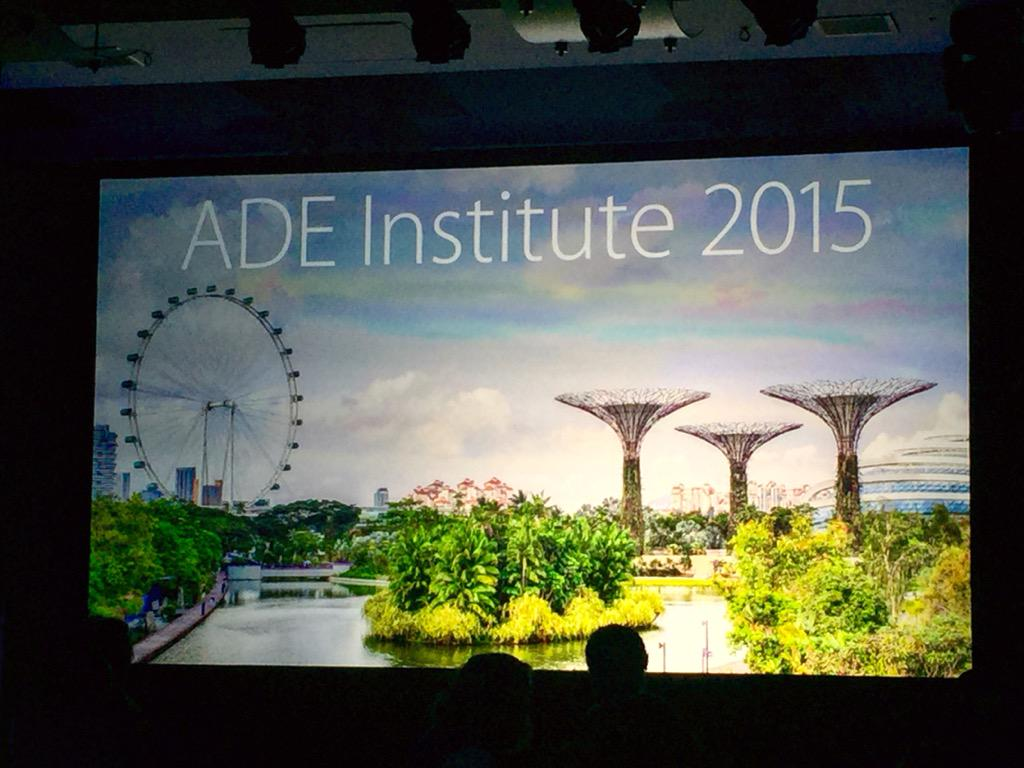 Day 3: Workshops today....Community Engagement, Coding in the Classroom, IOS Apps (Hopskotch & Scoodle Jam). #ade2015 http://t.co/qnuJ1UXxjU