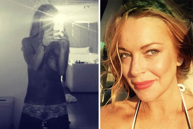 Lindsay Lohan Accompanies Hotel Review With Topless Selfie -1764
