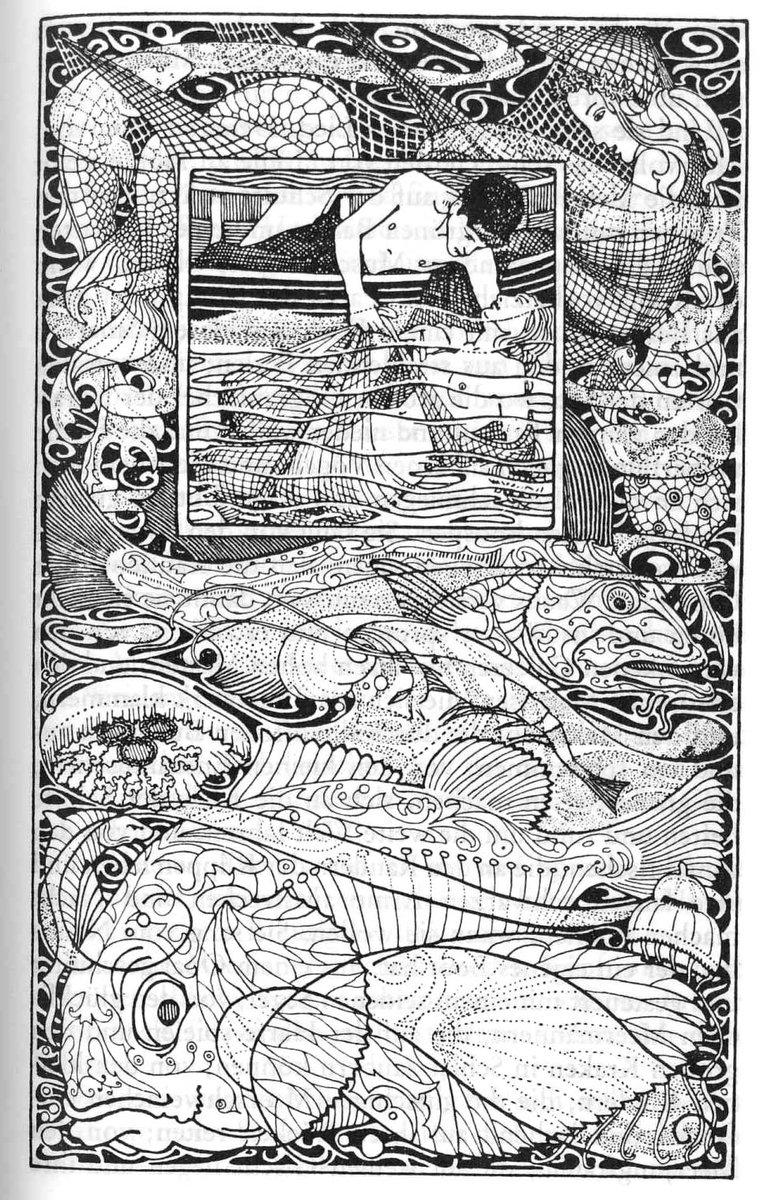 독일의 화가 하인리히 포겔러의 오스카 와일드 삽화들 http://t.co/z2vUOhDywT (좌: <어부와 그의 영혼> 우: <어린 왕>) http://t.co/6FZhYXjIdS