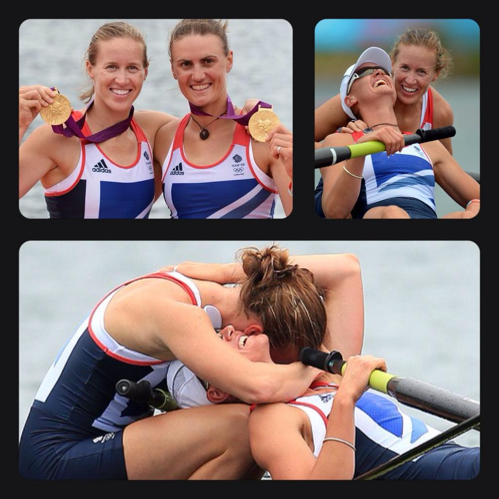 The first TeamGB gold medal in London for @Helenglovergb & Heather Stanning. Still unbeaten #1YearToGo @Rio2016_en http://t.co/4gy1Nc3I2g